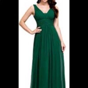 Ever Pretty Emerald Green Maxi Dress Sz 6
